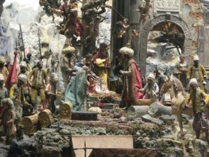 presepe Cuciniello, particolare della Natività La 'ricostruzione' dell'adorazione dei Magi