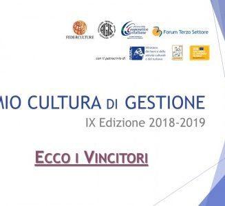 Premio Cultura di Gestione 2019 | Federculture